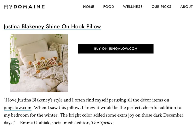 Shine On Hook Pillow by Justina Blakeney®