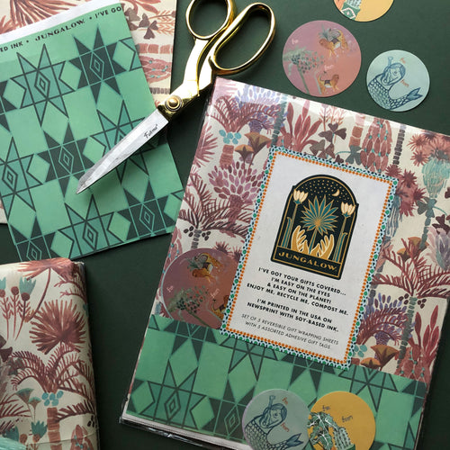 Eco-friendly & Reversible Gift Wrap Set by Justina Blakeney®