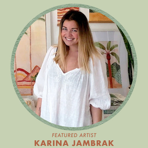 Shop art prints by Karina Jambrak, featured artist for Jungalow®