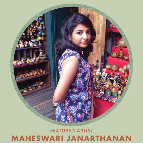 Shop art prints by Maheswari Janarthanan, featured artist for Jungalow®