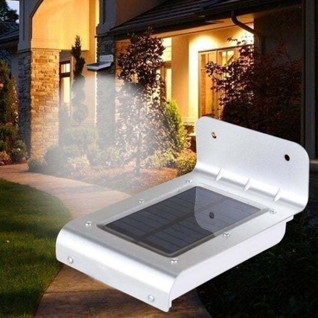 16 LED Solar Power Motion Sensor Garden Security Lamp Outdoor Waterproof Light - Flash Steals