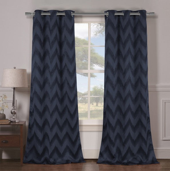 Set of 2: Heavy Woven Triple Layered Blackout Panels - Multiple Styles