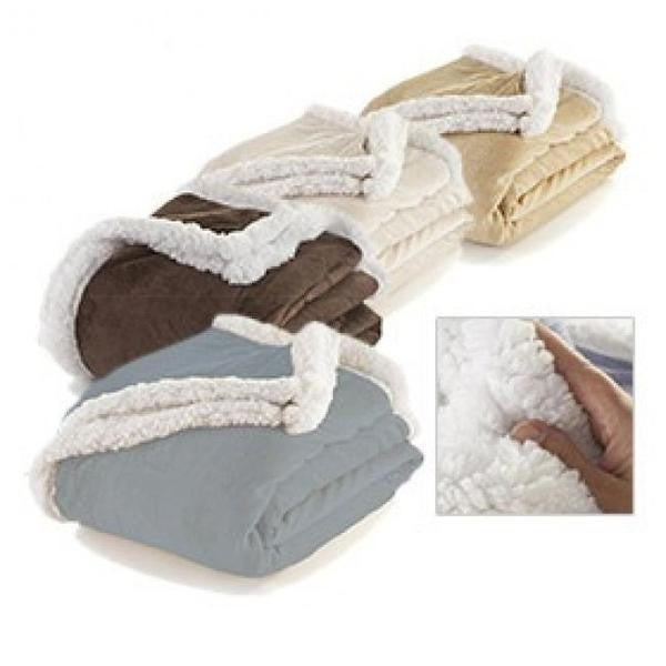 Kensie Ultra-Plush Sheep Touch Sherpa Throw Blanket - Flash Steals