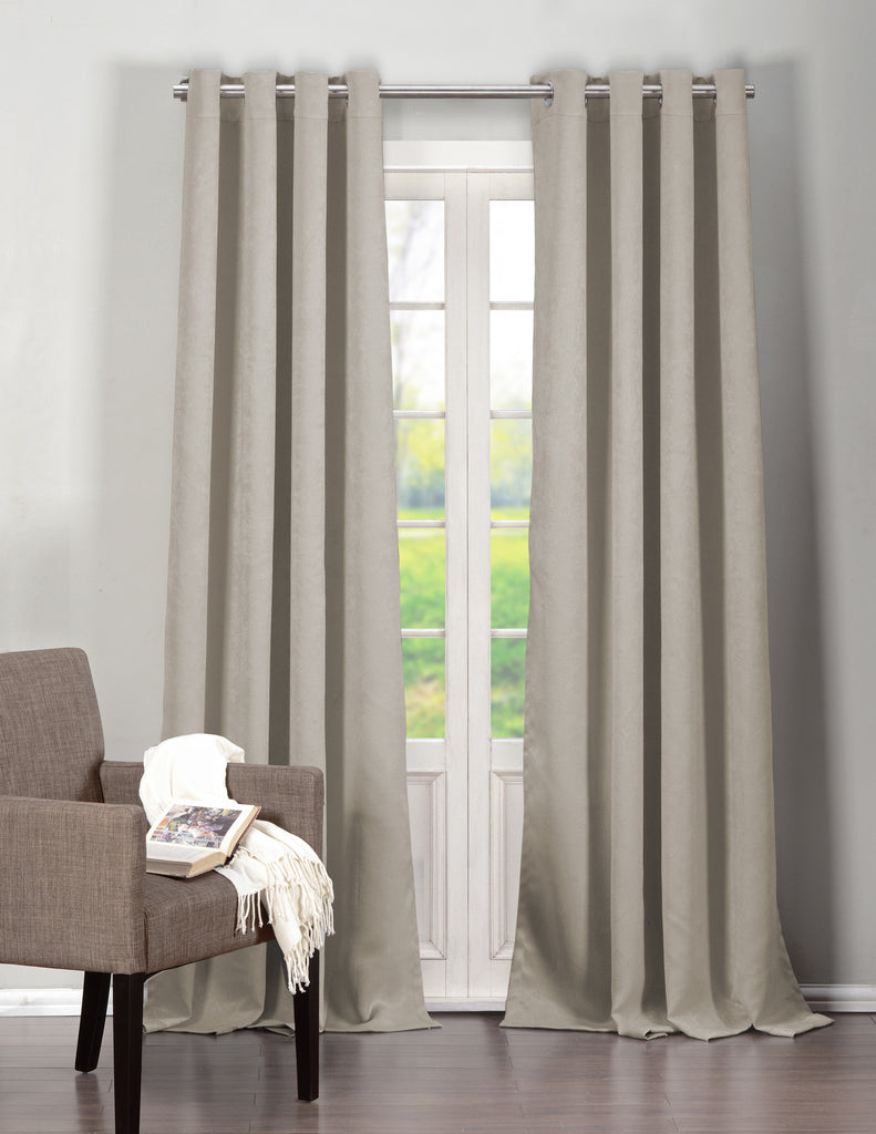 "2-Pack: 95"" Blackout Woven Blackout Curtains - Flash Steals"