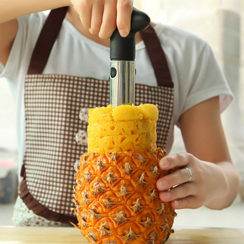 Pineapple Corer Slicer Peeler (Stainless-Steel) - 3 in 1 Tool
