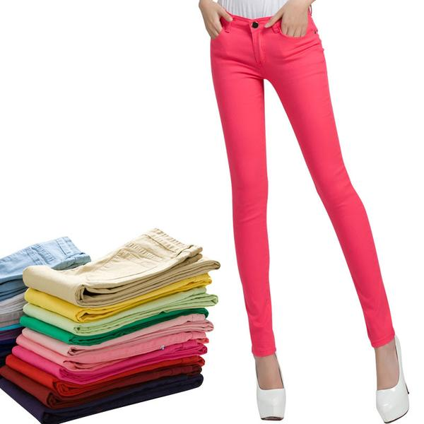 Womens Colorful Jeans - Multiple Colors