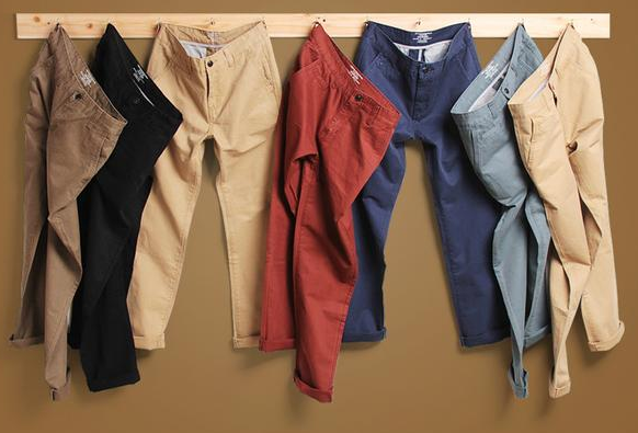 Slim Straight Casual Mens Pants