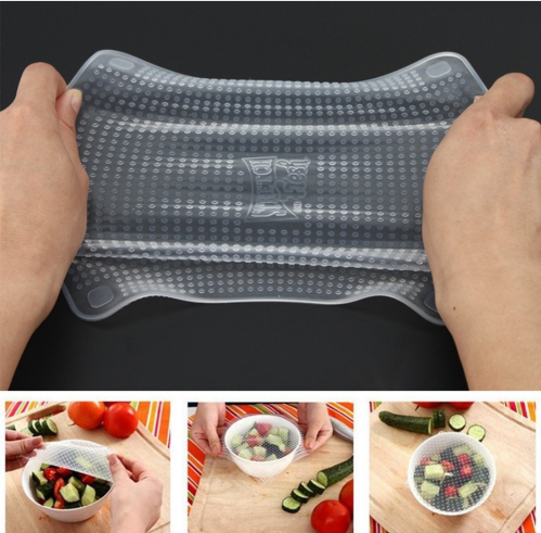 4-Piece Multifunctional Food Fresh Keeping Saran Wrap