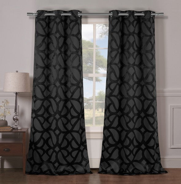 Set of 2: Heavy Woven Triple Layered Blackout Panels - Multiple Styles - Flash Steals