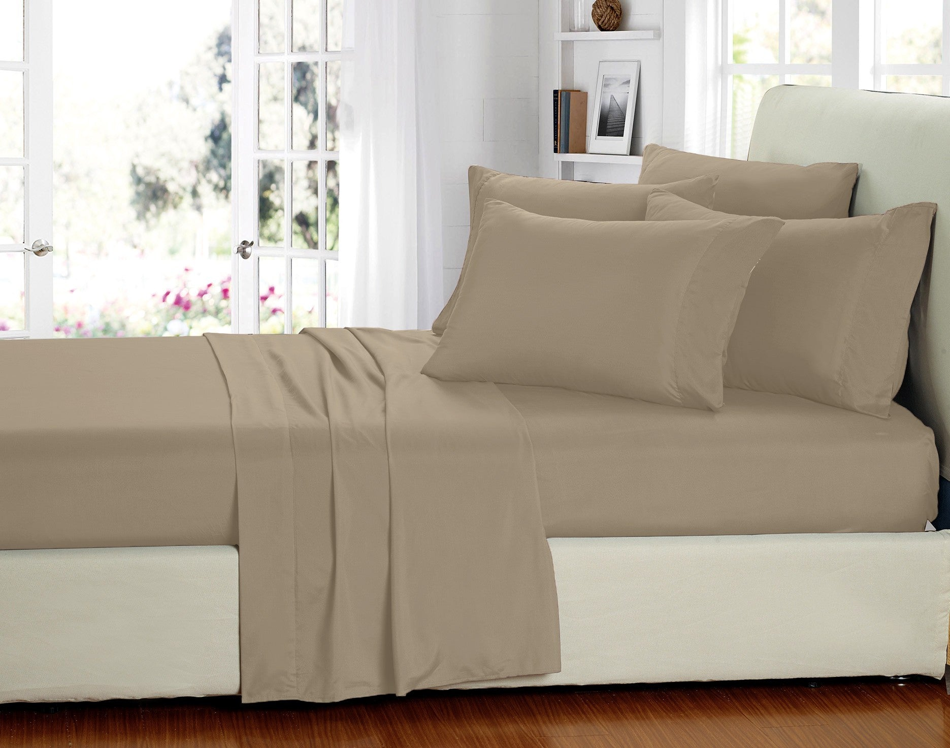 6 Piece Set: Super-Soft 2000 Series Bamboo Fiber Bed Sheets - 12 Colors - Flash Steals