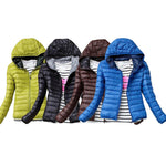 Women's Casual Puffer Jacket - Multiple Colors