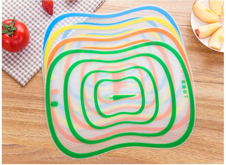4-Pack Flexible Kitchen Plastic Cutting Board