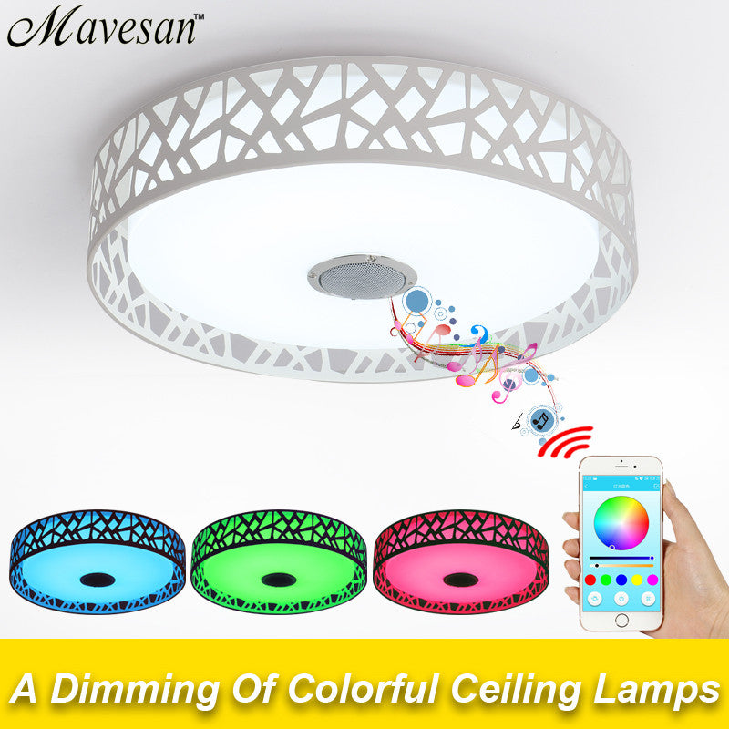 Bluetooth Color Changing LED Ceiling Light with Music