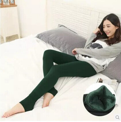 Womens Thick Fur Fleece Leggings - 8 Colors