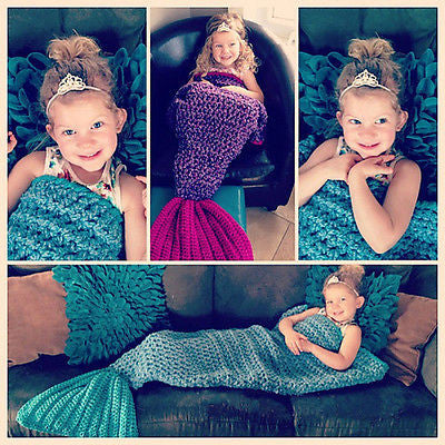 Kids Knitted Mermaid Blankets