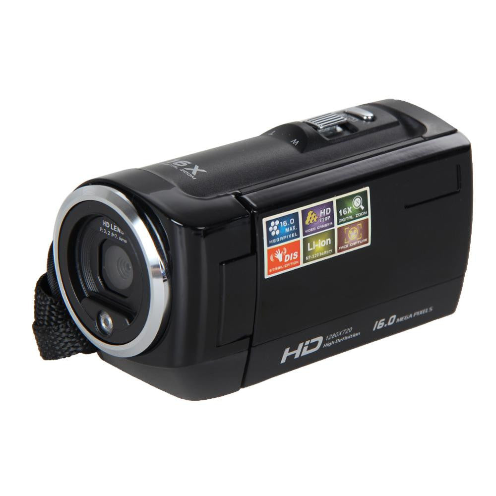 Mini Portable 720P 30FPS HD Digital Camera 2.7'' LCD Screen 16MP 16X Digital Zoom Camcorder - Flash Steals