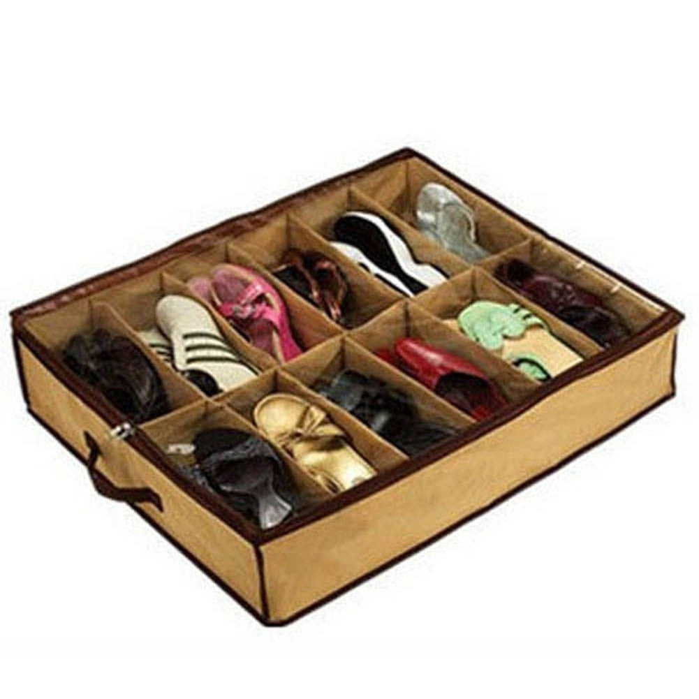 Under Bed Shoes Organizer for 12 Pairs