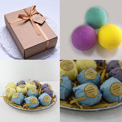 6-Piece Handmade Therapy Bath Bomb Set