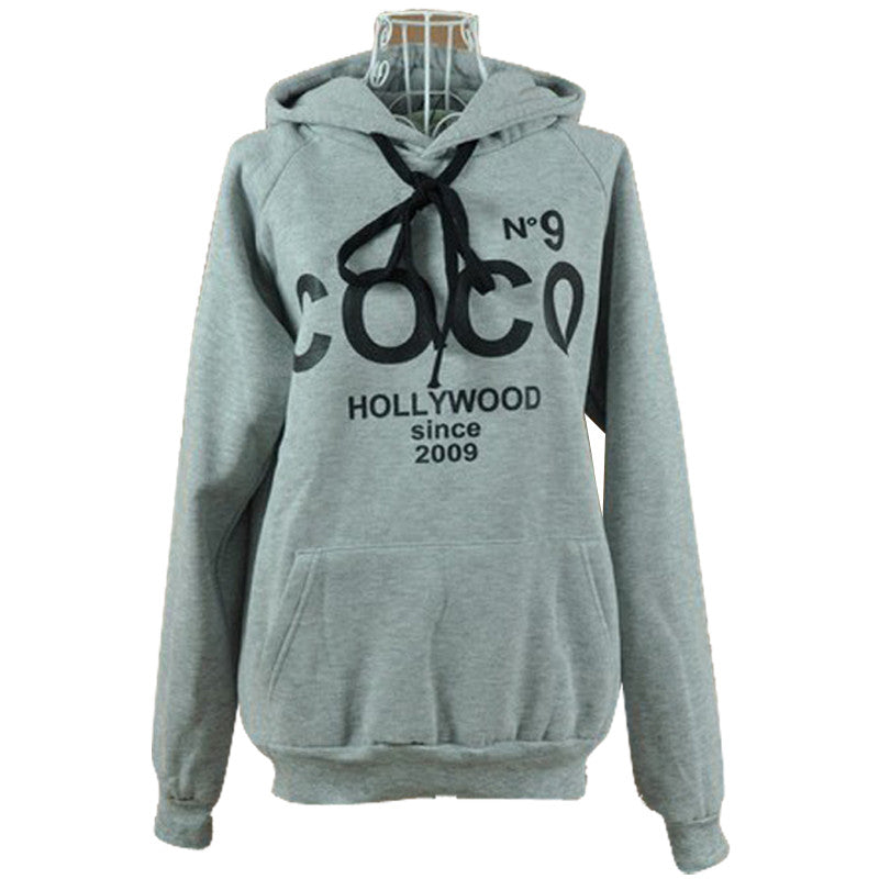 CLOSEOUT: Womens COCO Printed Hoodies