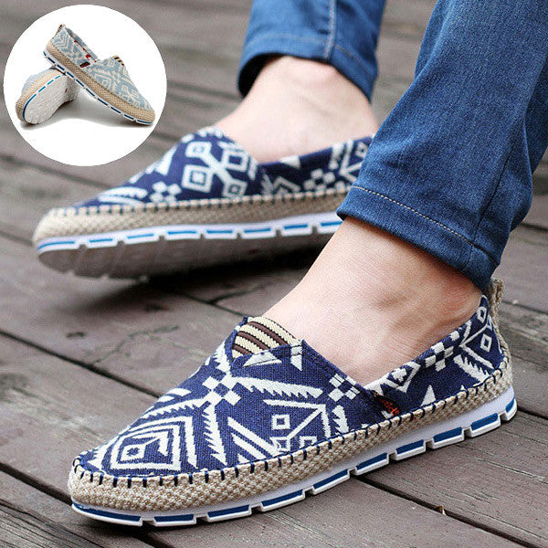 Mens Canvas Casual Loafers - Multiple Colors - Flash Steals