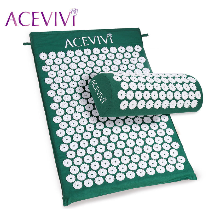 ACEVIVI Best Back and Neck Pain Relief - Acupressure Mat and Pillow Set - Flash Steals