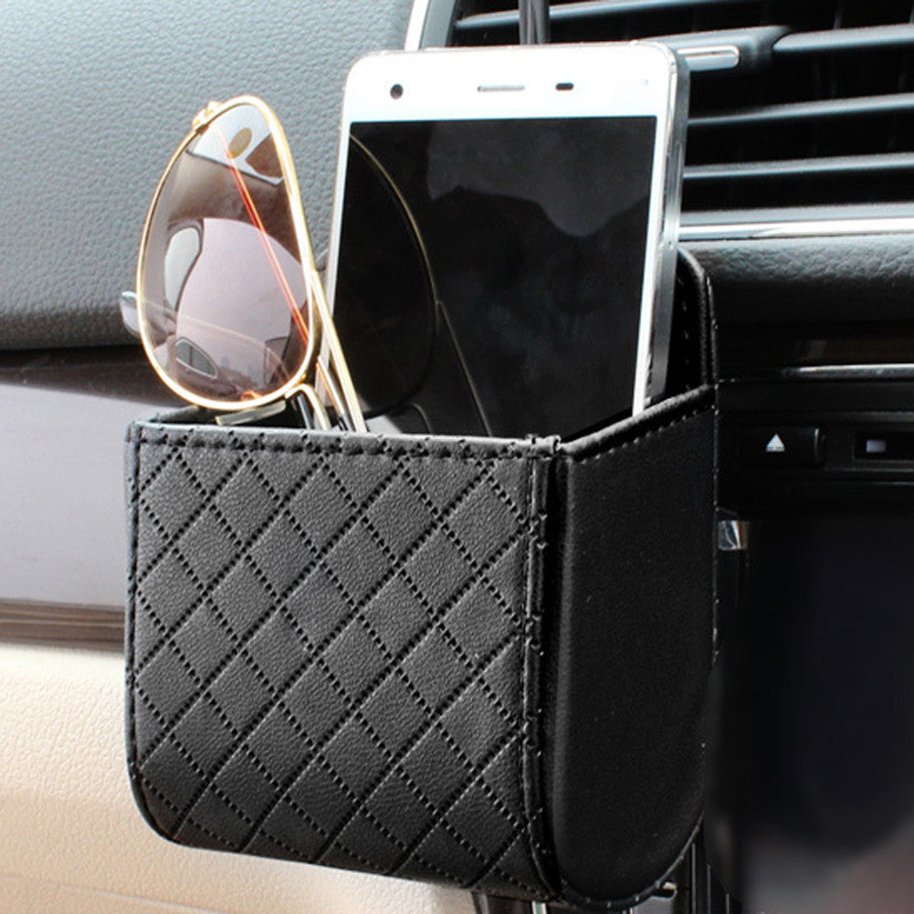 Faux Leather Car Organizer