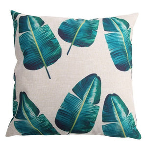 Cotton Tropical Printed Pillow Covers