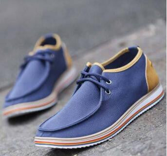 Mens Canvas Lace-up Shoes - Multiple Colors
