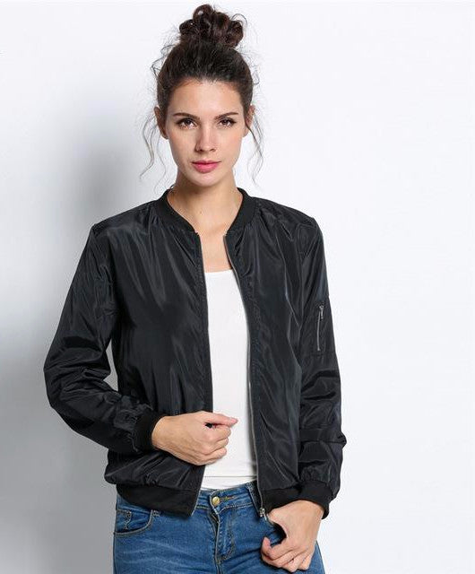 Long Sleeve Bomber Jacket