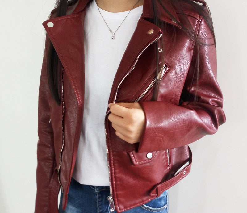 Womens Casual Leather Jacket