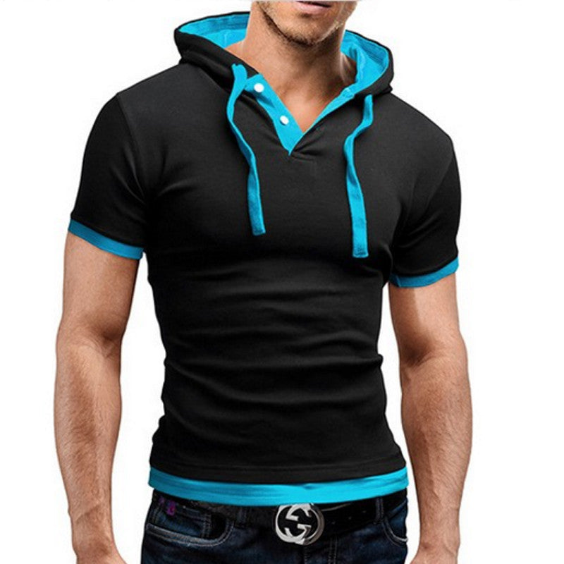 Mens Polo Hooded Shirt