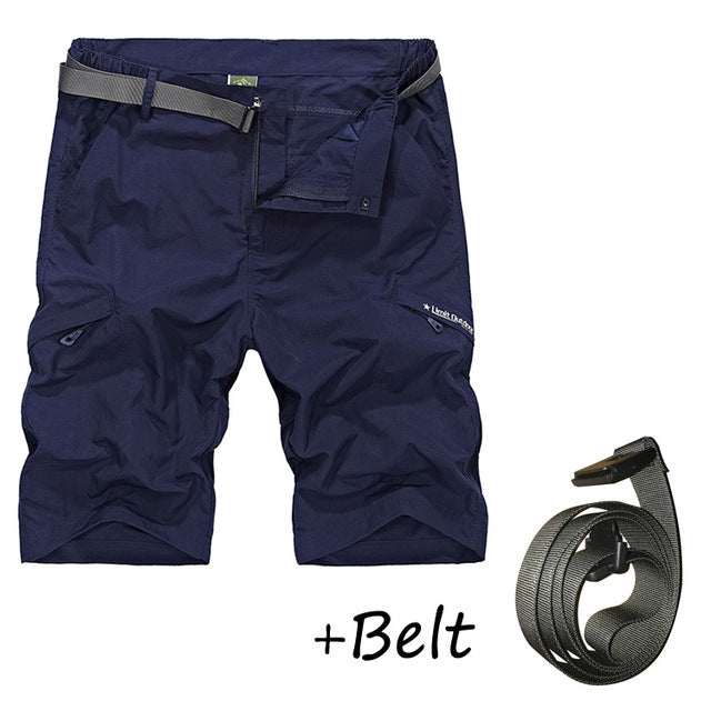 Waterproof Cargo Shorts with Belt