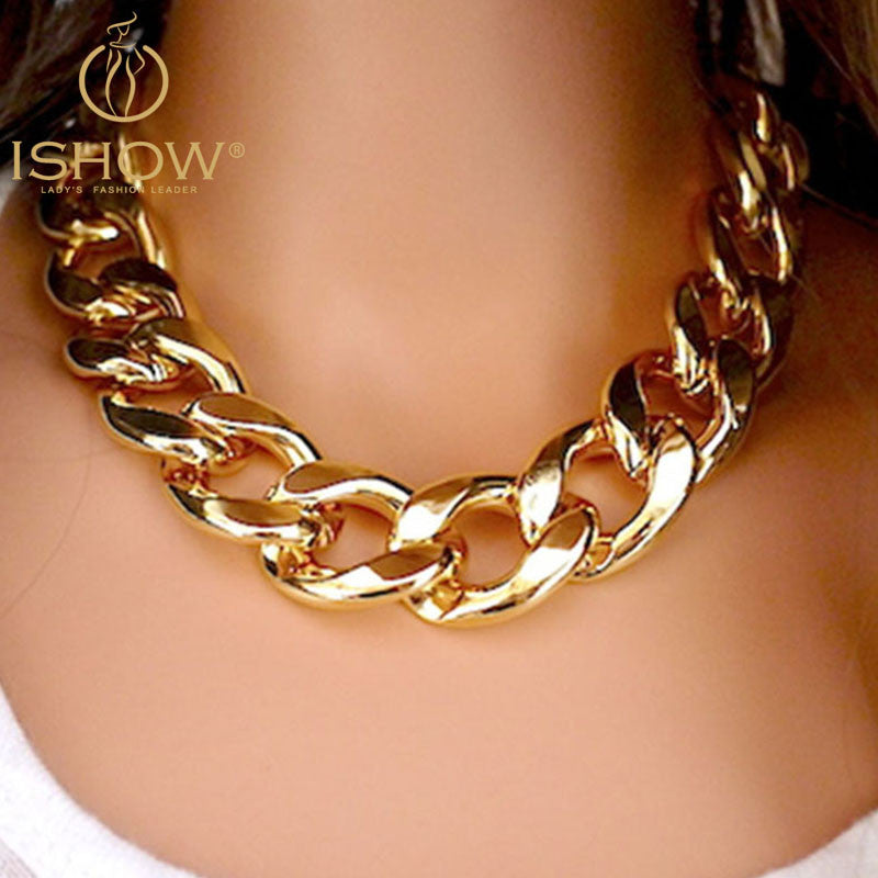 Gold&Silver Tones Plated CCB Chain Necklaces - Flash Steals