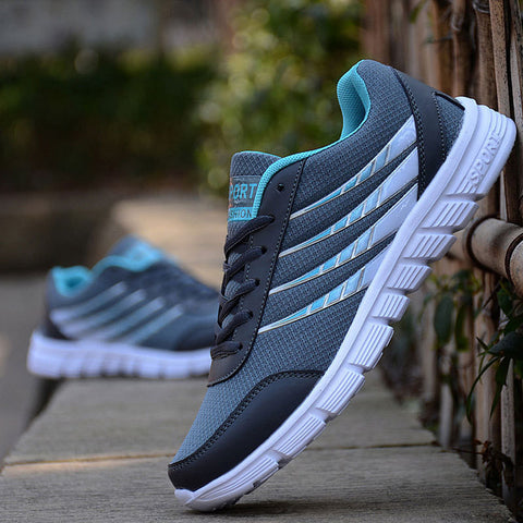 Lightweight Stripe Breathable Mesh Casual Shoes