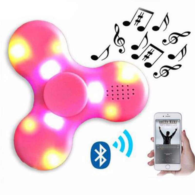 LED Bluetooth Speaker Fidget Hand Tri-Spinner Anxiety & Stress Reliever
