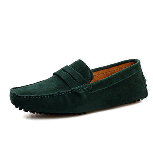 Mens Casual Slip On Suede Loafers