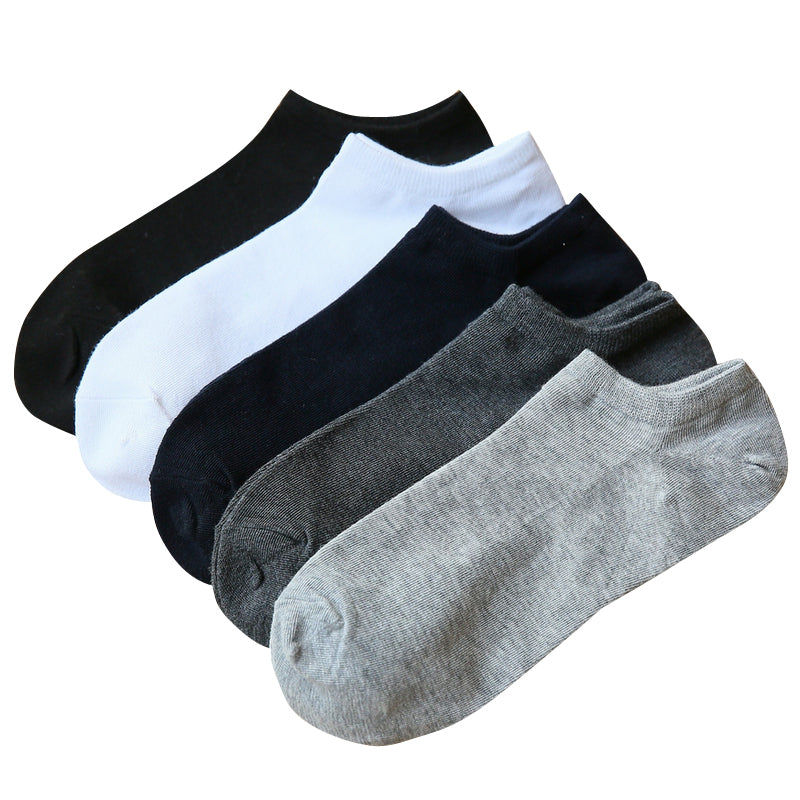 5 Pairs Cotton Ultra Soft Ankle Socks