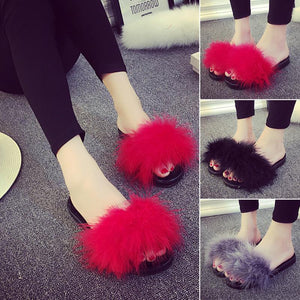 Womens Fur Slippers