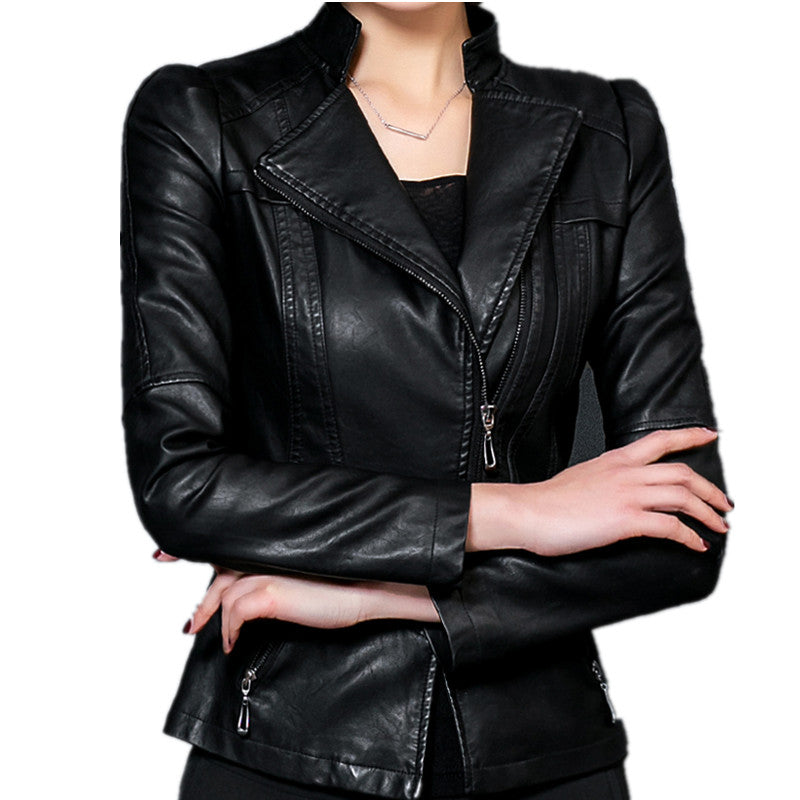 Women PU Leather Jacket