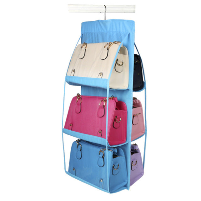 6-Pocket Hanging Handbag Organizer