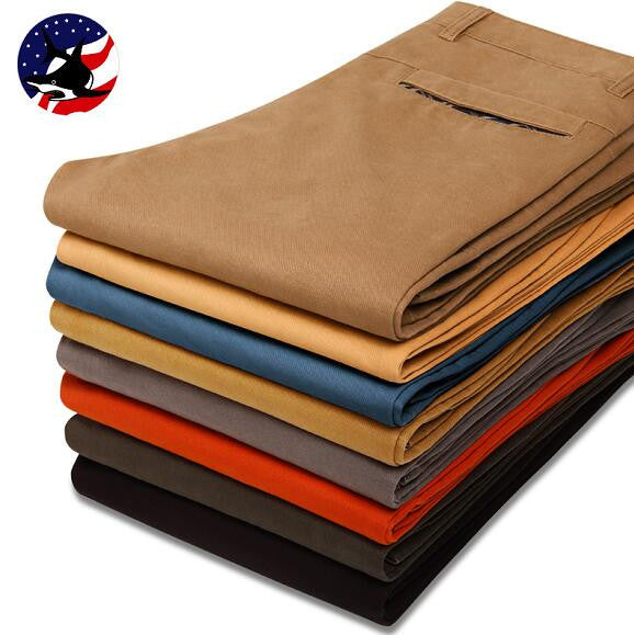 Mens Cotton High Khaki Pants - Flash Steals