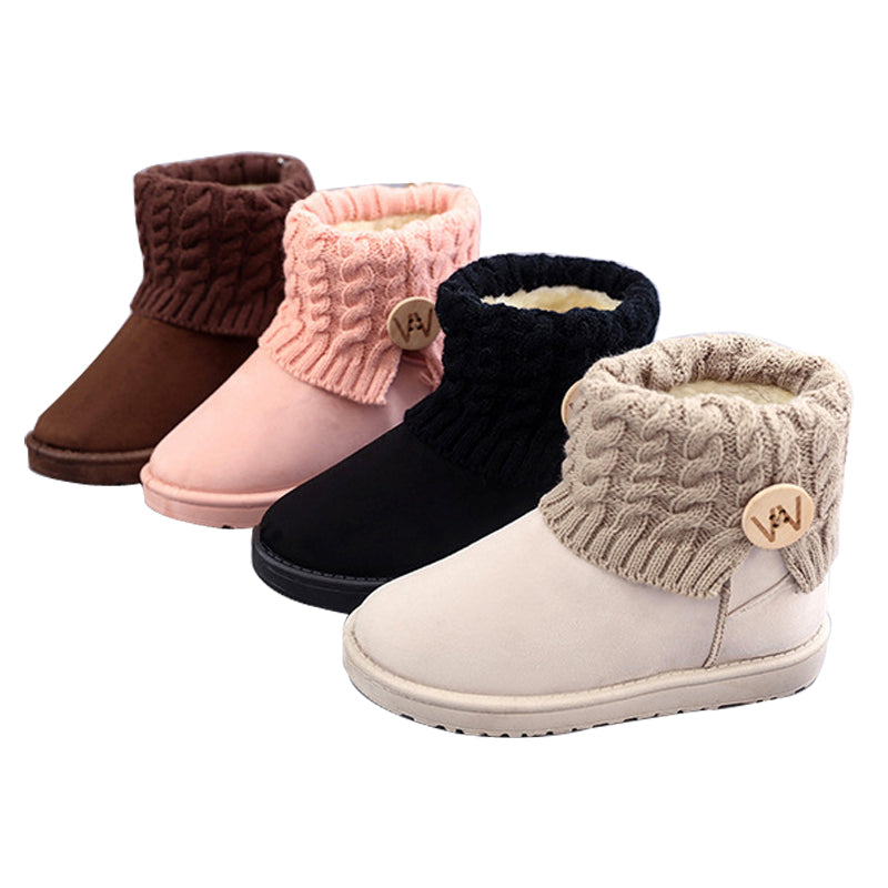 Winter Knitted Plush Boots