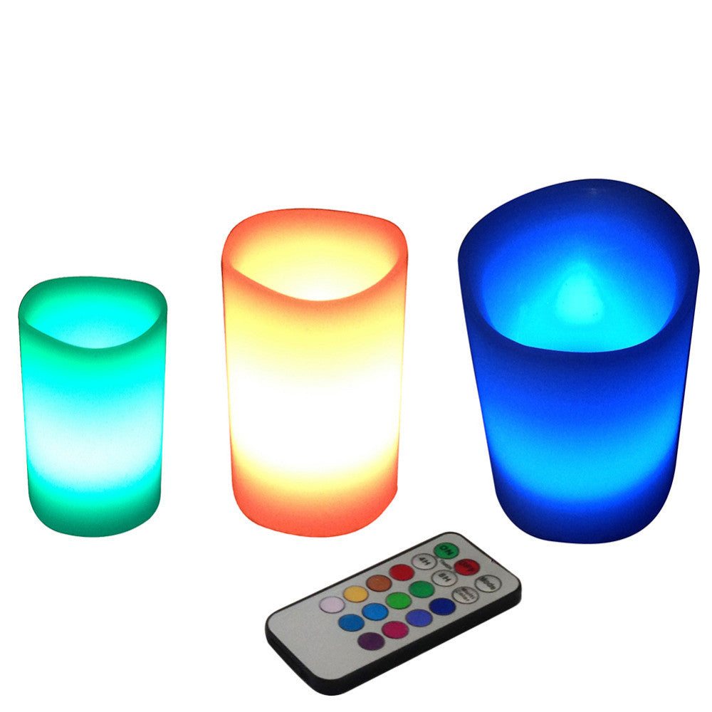 3 Piece Color-Changing Flameless Candles Set - Flash Steals
