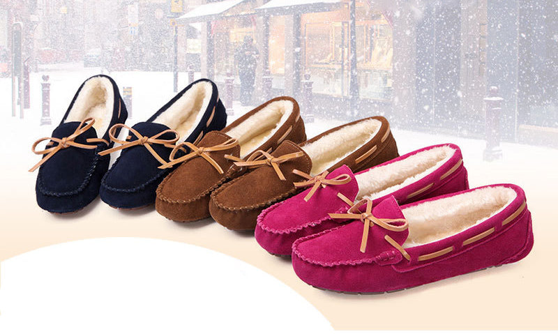 Women's Faux Fur Slippers Loafers