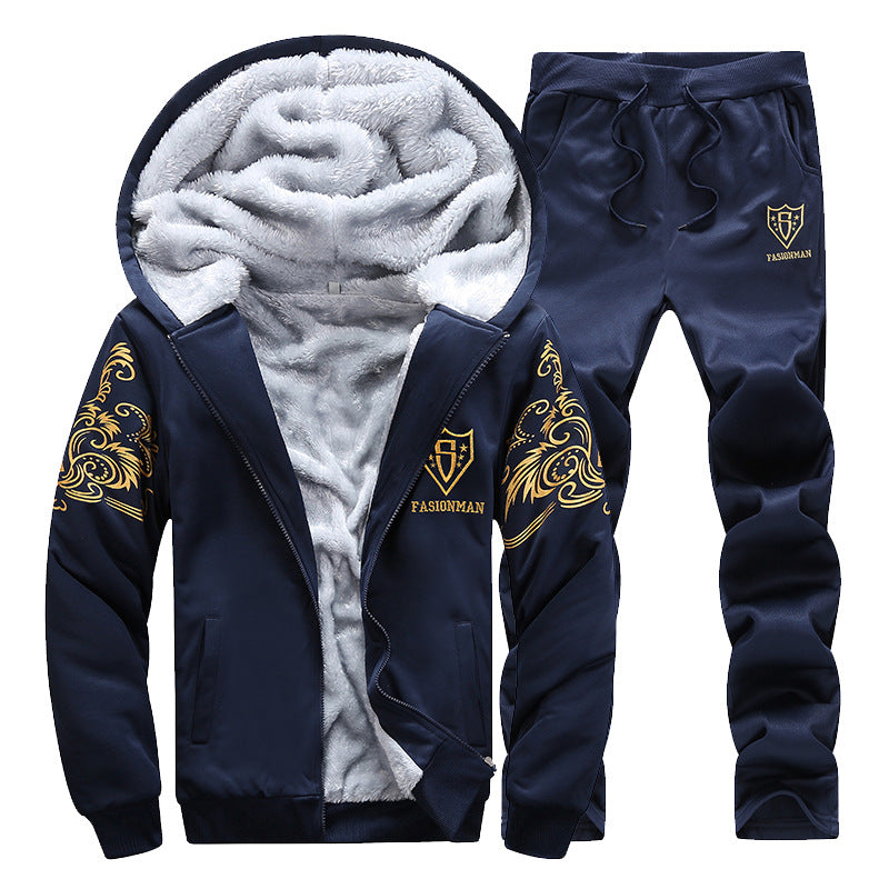 2-Piece Thick Sherpa Lined Hoodie & Sweatpants
