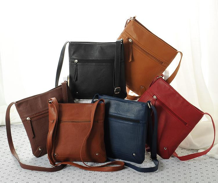 Faux Leather Crossbody Bags - Multiple Colors - Flash Steals