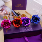 24K Gold Plated Golden Rose Flower - Valentine's Day Gift