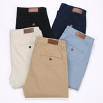 Men's Stretchy Khaki Slim Pants