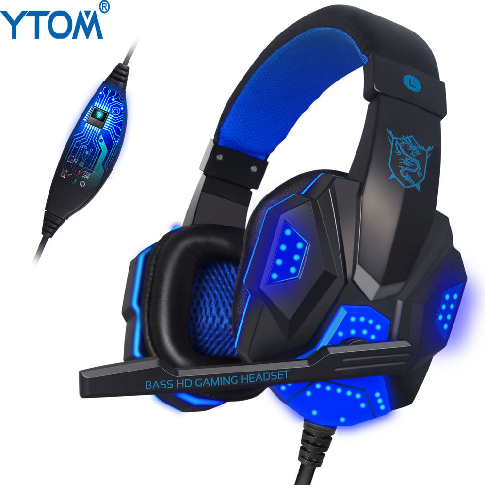 Surrounded Over Ear Gaming Headset with Light