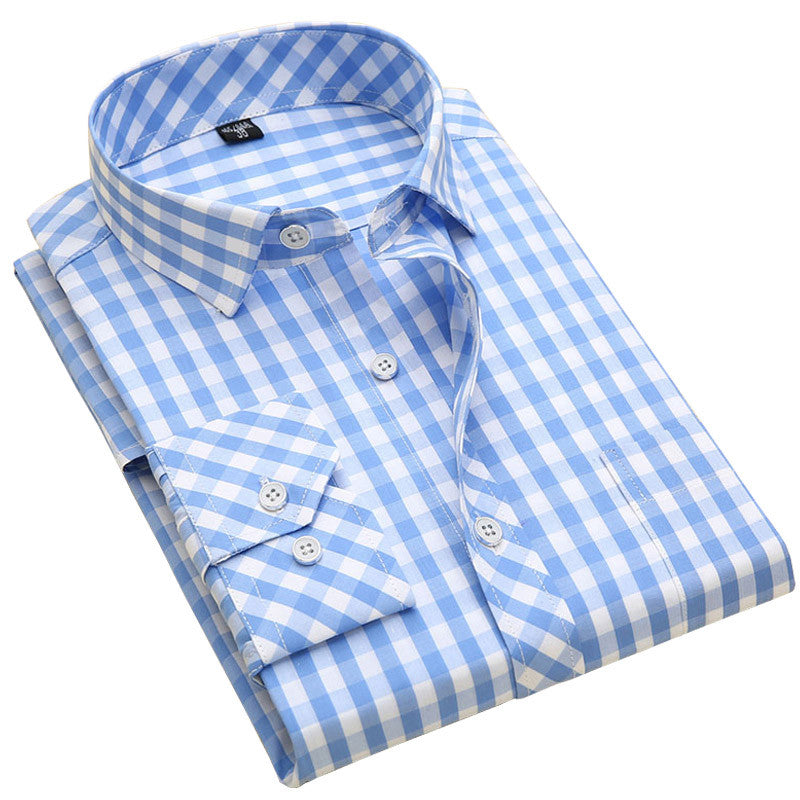 Mens Plaid 100% Cotton Dress Shirts - 10 Patterns - Flash Steals